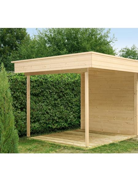 WOLFF Seitendach für Gartenhäuser, Fichtenholz