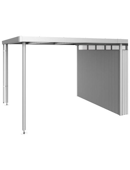 BIOHORT Seitendach »HighLine«, Edelstahl/Stahlblech, B x T x H: 282 x 315 x 222 cm