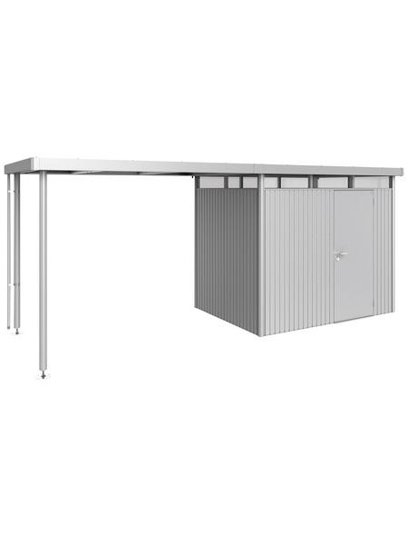 BIOHORT Seitendach »HighLine«, Stahlblech/Edelstahl, B x T x H: 282 x 195 x 222 cm
