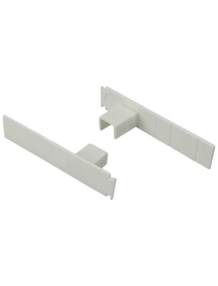 LIEDECO Seitendeckel, Rechteckig, 1 Paar, Weiß