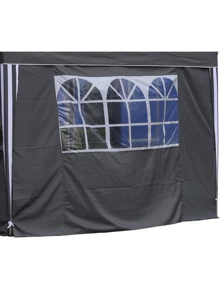 BELLAVISTA Seitenteile, Breite: 290 cm, Polyester, grau, mit Fenster