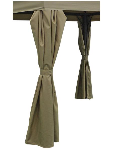 BELLAVISTA Seitenteile, hellbraun, Breite: 300 cm, Polyester