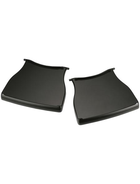 WEBER Seitentisch, Kunststoff, schwarz, BxHxT: 25 x 3,05 x 28,96 cm