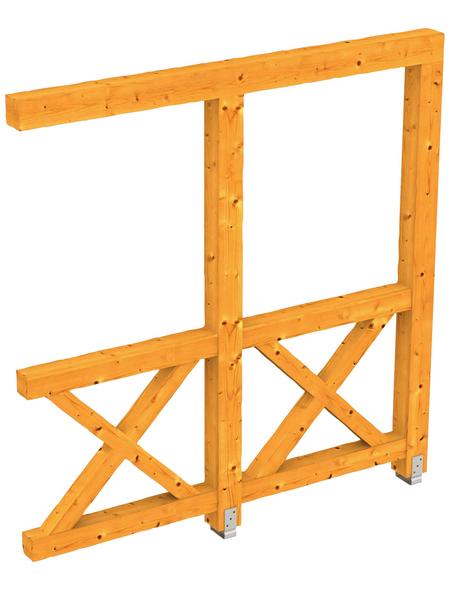SKANHOLZ Seitenwand, B x H: 205  x 210  cm, Holz, Farbe: eiche hell
