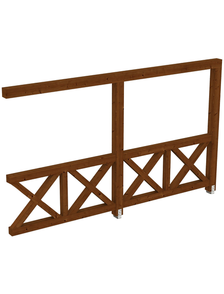 SKANHOLZ Seitenwand, B x H: 355  x 210  cm, Holz, Farbe: nussbaum