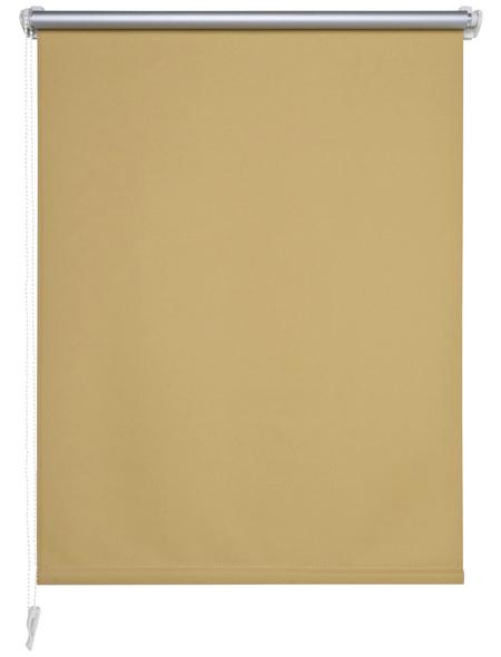 LIEDECO Seitenzug-Rollo »Klemmfix«, apricot, Polyester