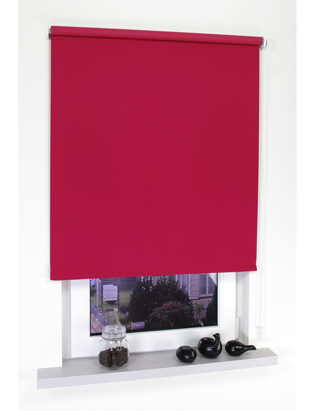 LIEDECO Seitenzug-Rollo, rot, Polyester