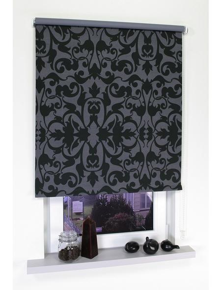 LIEDECO Seitenzug-Rollo, schwarz/grau, Polyester