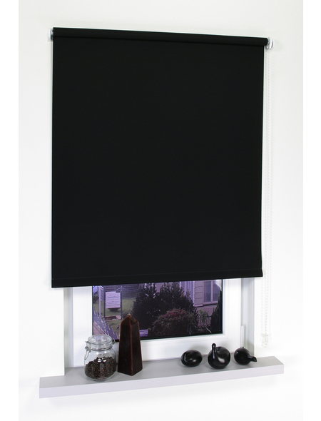 LIEDECO Seitenzug-Rollo, schwarz, Polyester