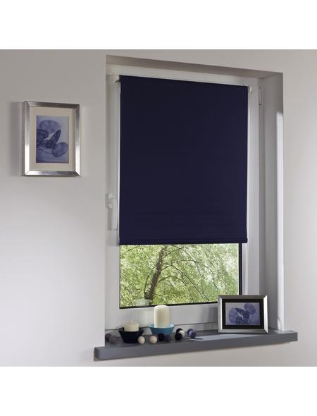 LIEDECO Seitenzugrollo, blau, Klemmfix, Polyester