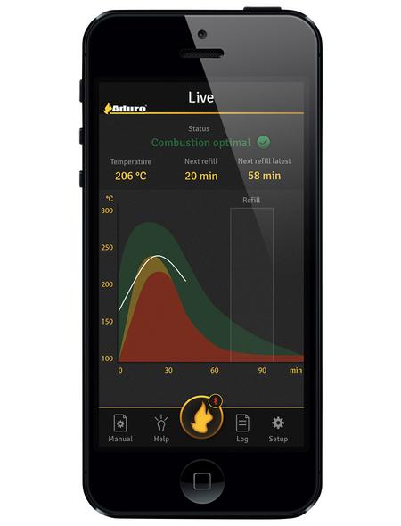 ADURO Sensor für Kaminofen »Aduro Smart Response«, schwarz
