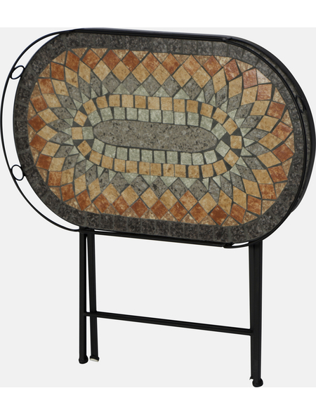SIENA GARDEN Serviertisch »Prato«, BxHxT: 67,5 x 60 x 41 cm, Stahl/Keramik