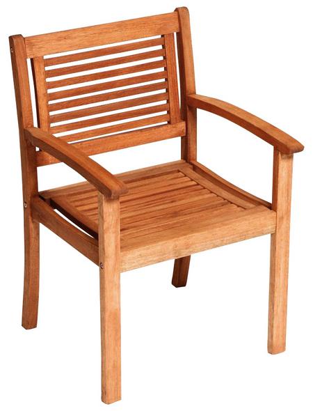 MERXX Sessel »Cordoba«, BxTxH: 60  x 58  x 90  cm, Eukalyptusholz