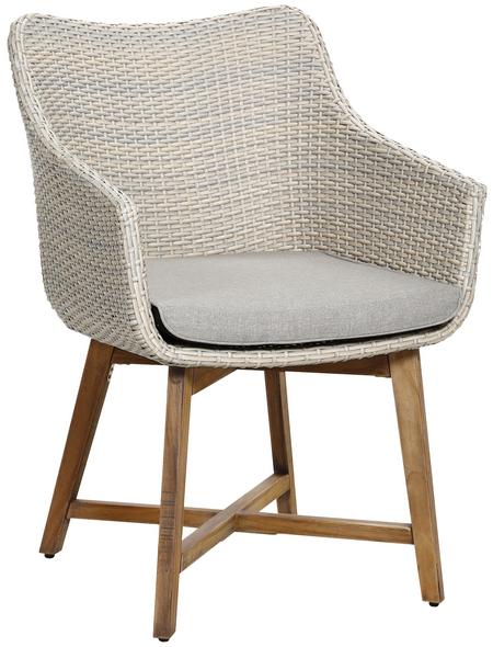 BEST Sessel »Paterna«, Gestell: holz-aluminium, inkl. Auflage