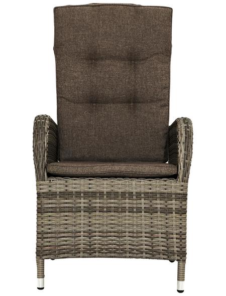 ploß® Sessel »Sydney«, BxTxH: 60  x 68  x 111  cm, Polyrattan/ Aluminium/ Polyester