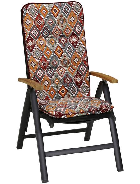 BEST Sesselauflage »Basic Line«, B x L x H: 50  x 120  x 6 cm