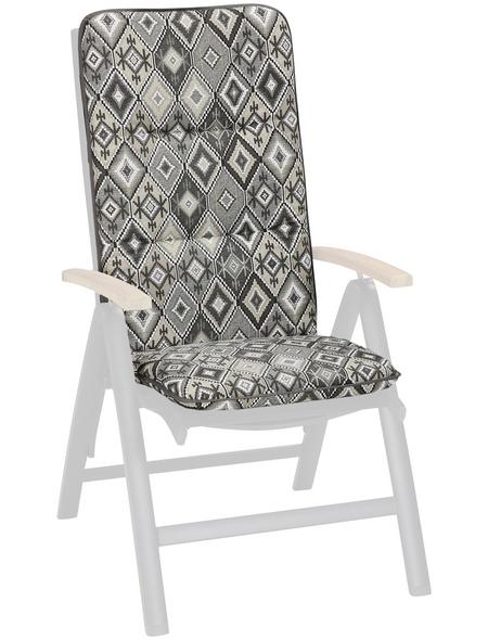 BEST Sesselauflage »Basic Line«, BxLxH: 50  x 120  x 6 cm