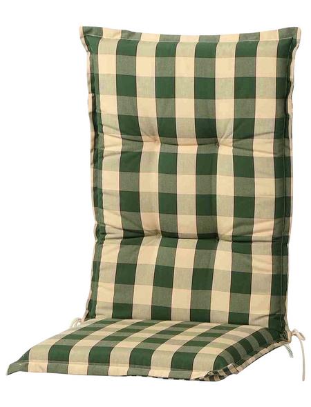 Schwienhorst Sesselauflage »Kent«, Kariert, grün, 50 cm x 120 cm