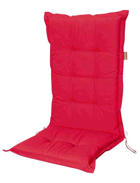 MADISON Sesselauflage »Panama«, Niederlehner, rot, Uni, BxL: 50 x 105 cm