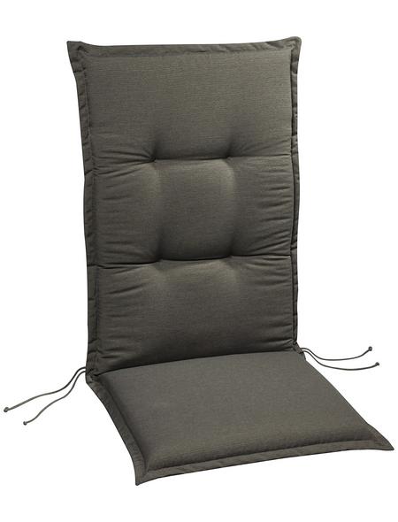 BEST Sesselauflage »Selection-Line«, Uni, grau, 120 cm x 50 cm