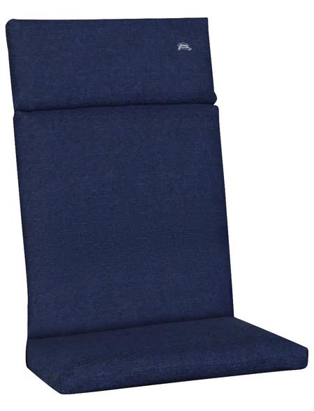 ANGERER FREIZEITMÖBEL Sesselauflage »Smart«, blau, BxL: 112 x 47 cm