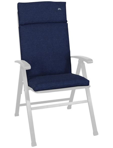 ANGERER FREIZEITMÖBEL Sesselauflage »Smart«, Uni, blau, 47 cm x 112 cm