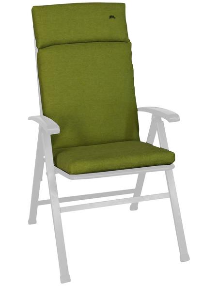 ANGERER FREIZEITMÖBEL Sesselauflage »Smart«, Uni, grün, 47 cm x 112 cm
