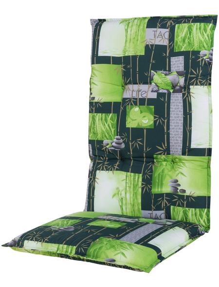 DOPPLER Sesselauflage »Spirit«, grün, BxL: 48 x 119 cm