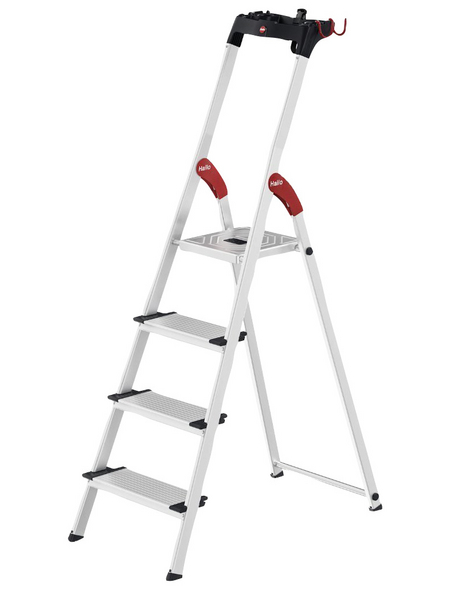 HAILO Sicherheitsleiter »Profi Step XXL«, 4 Stufen, Aluminium/Stahl