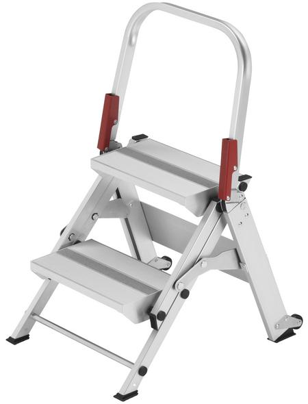 HAILO Sicherheitstreppe »ST 100«, Anzahl Sprossen: 2, Aluminium