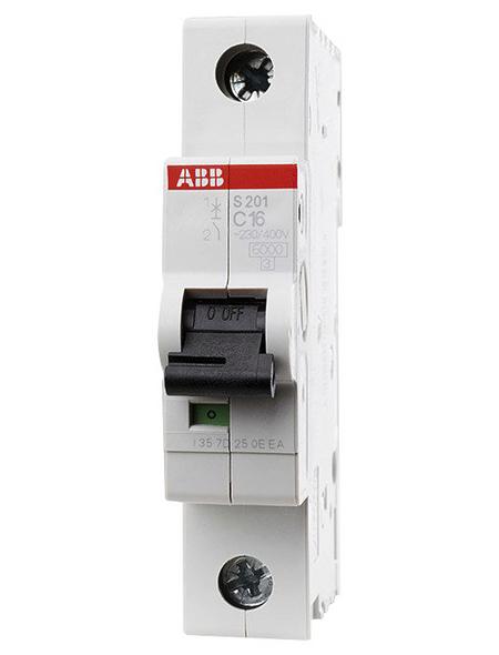 ABB Sicherungsautomat, S200, 1-Polig, für Leitungen mit einem Querschnitt bis 35 mm², C, 16 A
