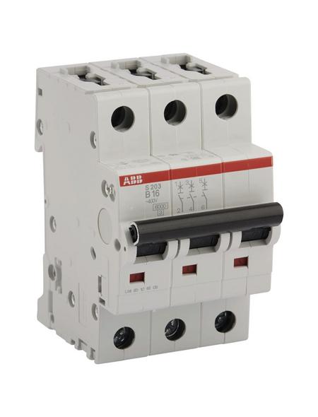 ABB Sicherungsautomat, S200, 3-polig, für Leitungen mit einem Querschnitt bis 35 mm², B, 16 A