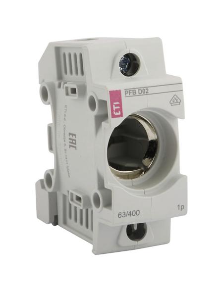ETI Sicherungssockel, E18, 63 A, Grau, 1-polig