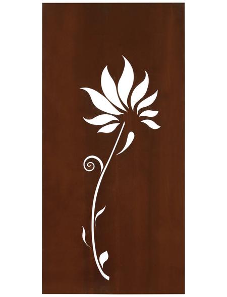 FLORAWORLD Sichtschutz »Lilie«, Stahl, HxL: 98 x 90 cm