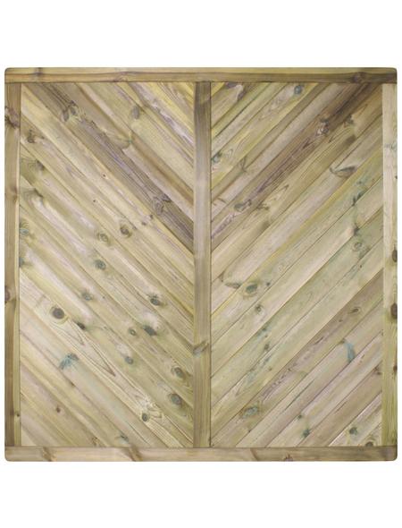 MR. GARDENER Sichtschutzelement »Rügen«, HxL: 180 x 180 cm, grün