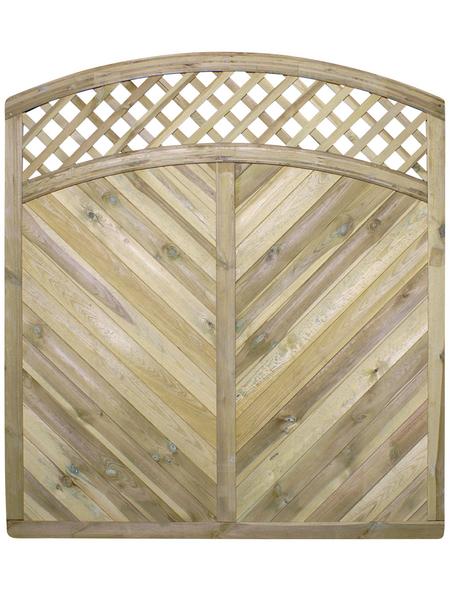 MR. GARDENER Sichtschutzelement »Rügen«, HxL: 200 x 180 cm, beige