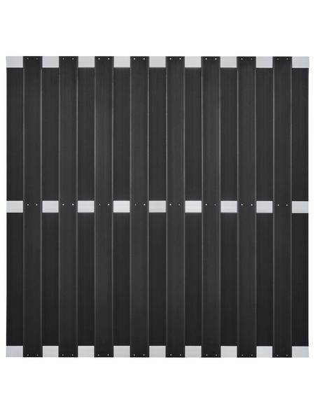 Sichtschutzzaun »Dius«, WPC/Aluminium, HxL: 180 x 180 cm