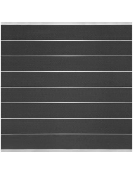 MR. GARDENER Sichtschutzzaun »Donatus«, WPC, 8 Bohlen, Alu-Leisten blank anodisiert, HxL: 180 x 180 cm