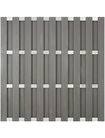 Sichtschutzzaun, WPC/Aluminium, HxL: 180 x 180 cm