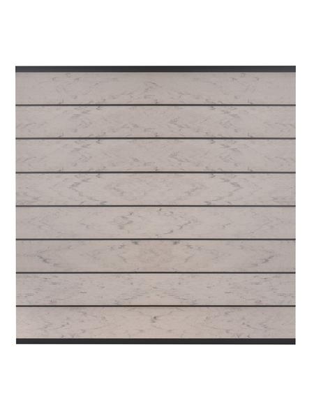 Sichtschutzzaun, WPC, HxL: 180 x 180 cm