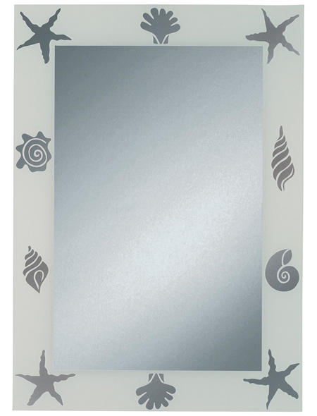 KRISTALLFORM Siebdruckspiegel »Nemo«, B x H: 50  x  70 cm, eckig