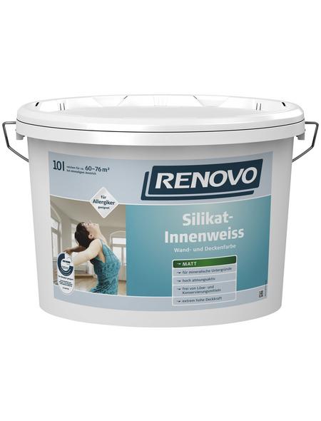 RENOVO Silikat-Innenfarbe, Weiß, matt