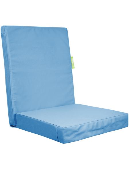 OUTBAG Sitzauflage »HighRise Plus«, Uni, aquablau, 50 cm x 105 cm
