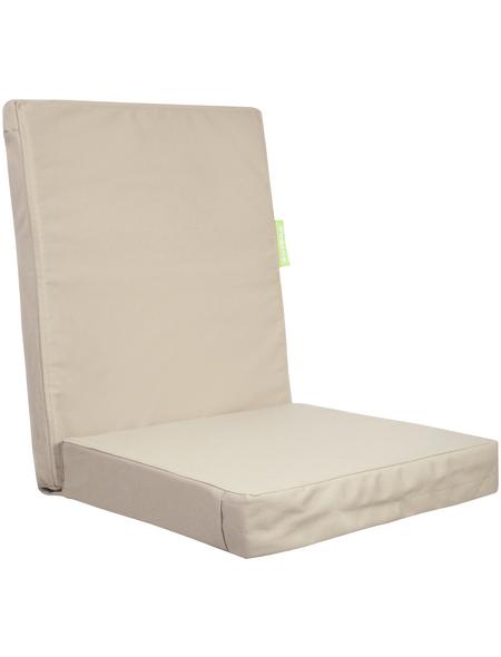 OUTBAG Sitzauflage »HighRise Plus«, Uni, beige, 50 cm x 105 cm