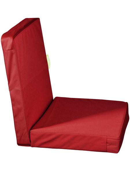 OUTBAG Sitzauflage »HighRise Plus«, Uni, rot, 50 cm x 105 cm