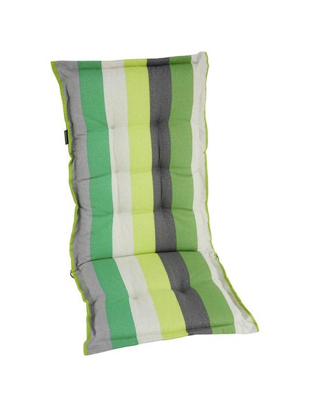MADISON Sitzauflage »Victoria«, Streifen, grün/grau, 123 cm x 50 cm