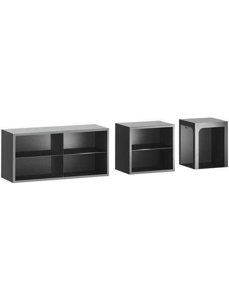 HAAS & SOHN Sitzbank, BxHxL: 36,5 x 36,5 x 46 cm, schwarz