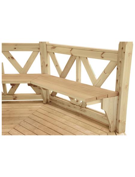 WOLFF Sitzbank »Kreta 8«, Holz, beige
