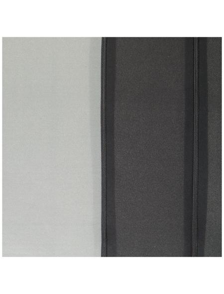UNITEC Sitzbezug-Set, NEWLINE, Grau | Schwarz, Polyester, 14-tlg., für hinten und vorne