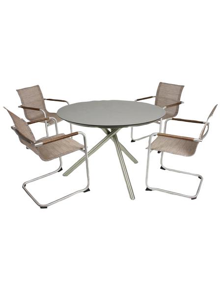 GARDEN PLEASURE Sitzgruppe »Nova«, 4 Sitzplätze